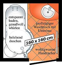 Bad-Grundriss mit Artweger Twinline 1, grosszuegigem Waschtisch mit Unterbau