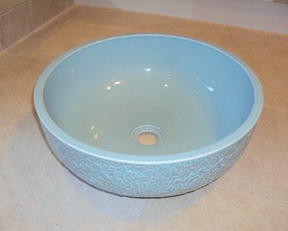 Aufsatz-Waschbecken Priori azurblau