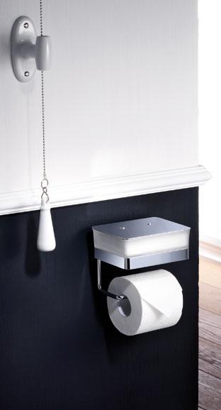 Giese WC-Duo Feuchtpapierbehaelter, formschoene Glasbox