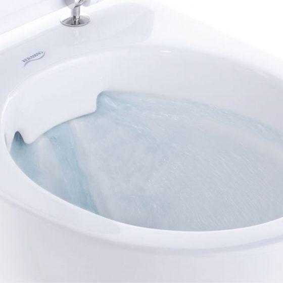 Keramag spuelrandloses WC WC rimless rimfree Reinigungskomfort hygienisch Spühlstrahl beim spülrandlosen WC