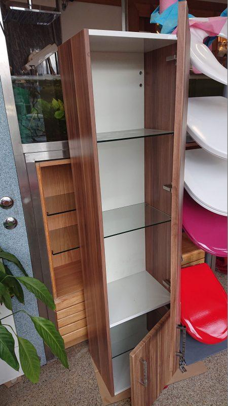 Burgbad Hochschrank mit offenen Türen und Glasfachböden