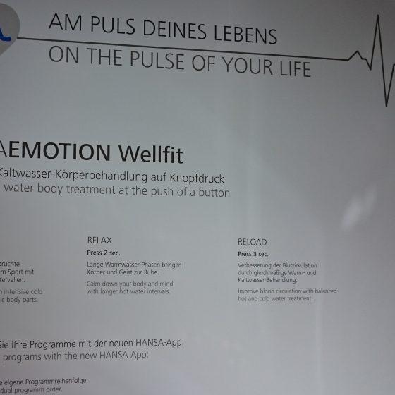 Hansa Emotion Wellfit für Healthness im Bad