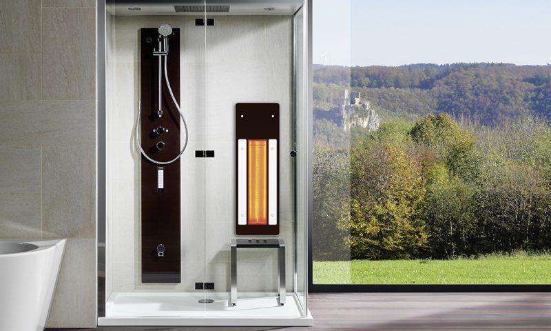 Infrarot-Dusche für Zuhause Infrarotpaneel Lissabon in Dampfdusche Ventura von Repabad