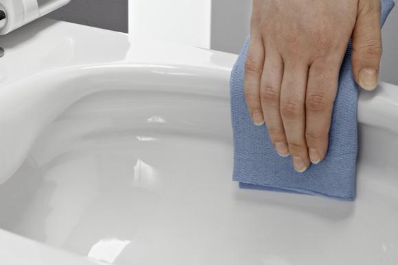 leichte Reinigungs-Moeglichkeit bei einem spuelrandlosen WC